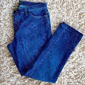 Lauren Ralph Lauren Patterned Skinny Jeans Size 12